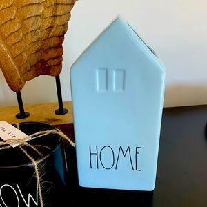 VASE Rae Dunn powder blue HOME vase